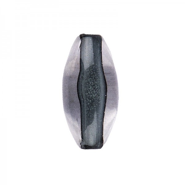 DuoColor-Perlen, oval, 12mm, anthrazit/klar, 20 Stück