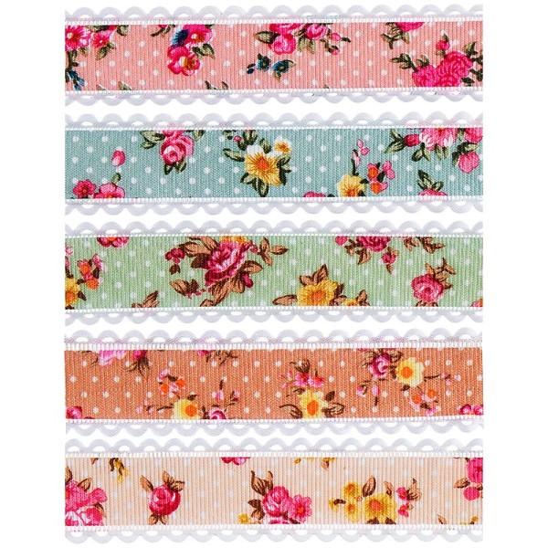 "Zierbänder ""Rose"", 1m lang, 2,5cm breit, 5 Stück"