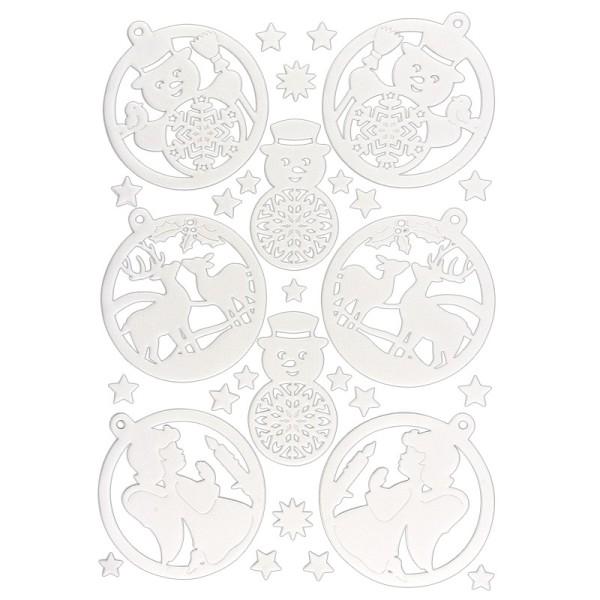 3-D Sticker, Deluxe Anhänger, verschiedene Größen, selbstklebend, weiß