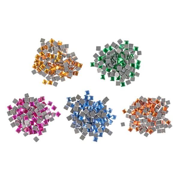 Bügelsteine, Quadrat, 3mm, 500 Stück