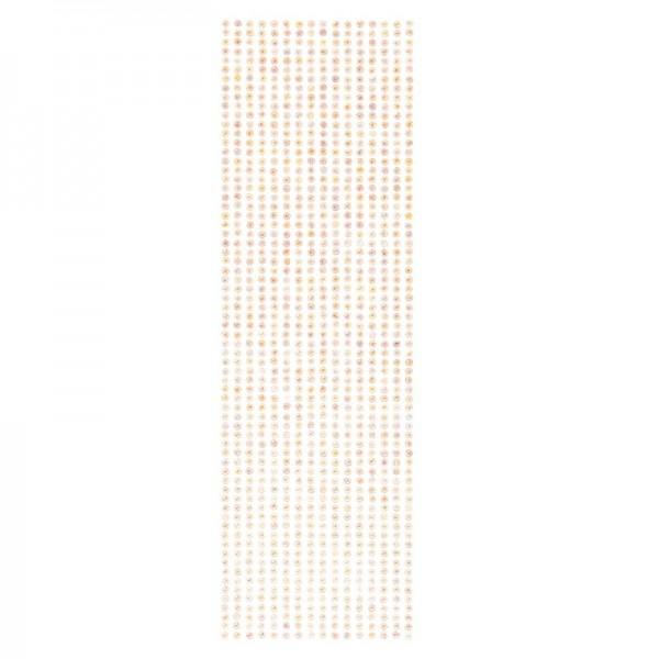 Schmuckstein-Bordüren, selbstklebend, facettiert, irisierend, Ø4mm, 29cm, 16 Stück, lachs