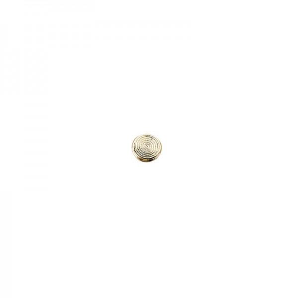 Hot-Fix Metallic-Relief-Nieten 2 zum Aufbügeln, Ø 4mm, gold, 200 Stück