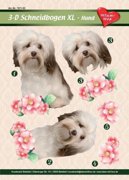 3-D Bogen XL-Hund, zum Ausschneiden