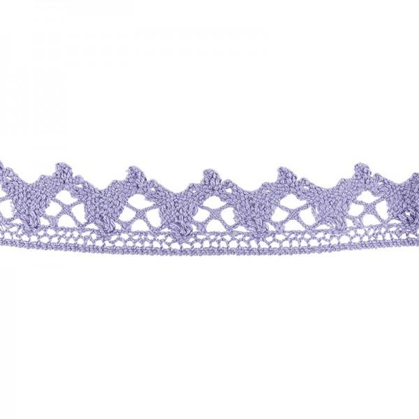 Häkelspitze Design 6, 2,1cm breit, 2m lang, flieder