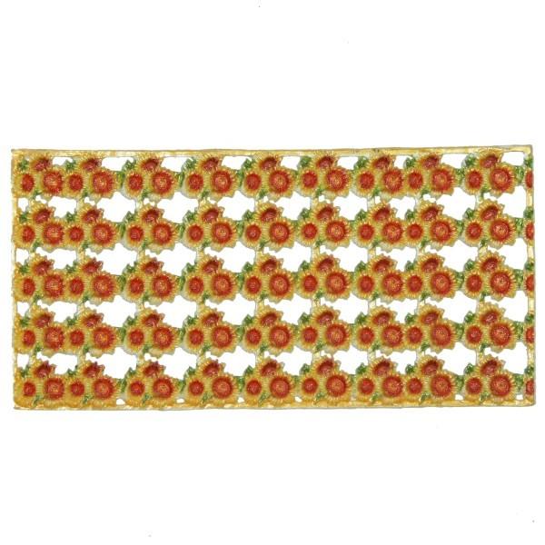 Wachs-Bordüren auf Platte, Sonnenblumen, 19x2 cm, 5 Reihen
