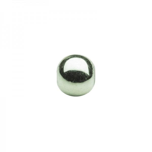 Metallic-Perlen, Ø6 mm, 50 Stück, hellgrün
