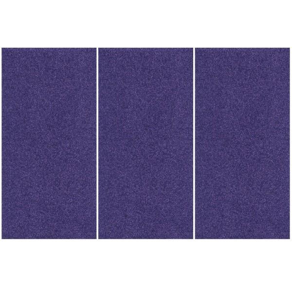 Glitter-Bügelfolie, 25 x 12,5 cm, 3er Set, lila