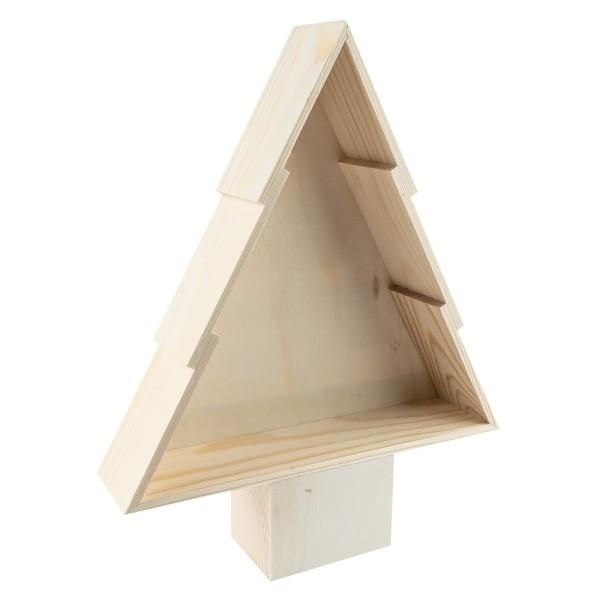 Holzrahmen-Tanne, 27,5cm x 22,2cm x 5,2cm, zum Aufstellen
