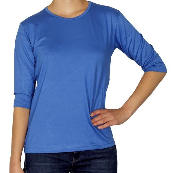 Creative Shirt, 3/4-Ärmel, royalblau, Größe 36/38