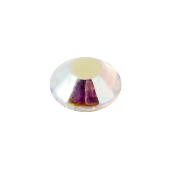 Hot-Fix Glas-Kristalle zum Aufbügeln, Ø5mm, 500 Stk., irisierend