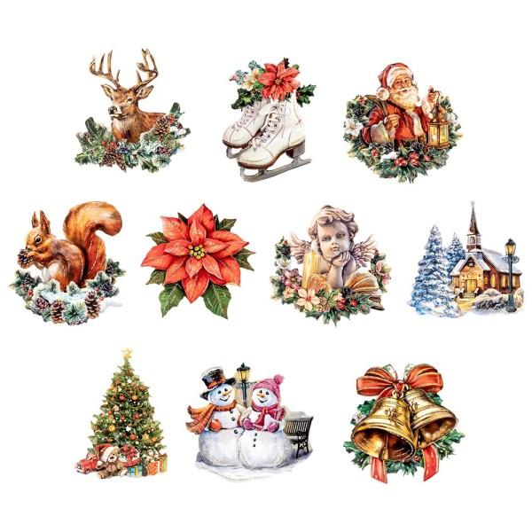 3-D Motive, Weihnachten nostalgisch, 6-11cm, 10 Motive