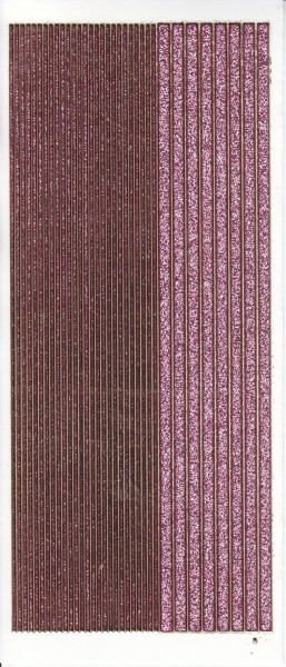 Microglitter-Sticker, Linien, rosa