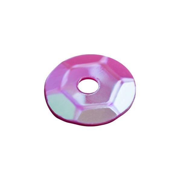 Pailletten, irisierend, 15 g, Ø6 mm, fuchsia