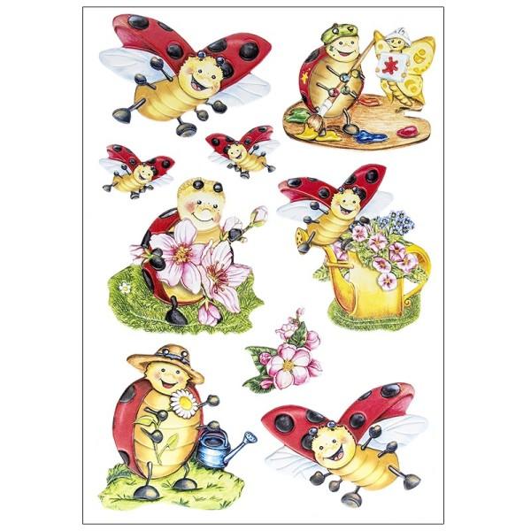 3-D Relief-Sticker, Lucky Lo, verschiedene Größen, selbstklebend