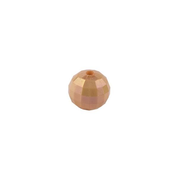 Perlen, facettiert, Ø 4 mm, apricot-irisierend, 200 Stk.