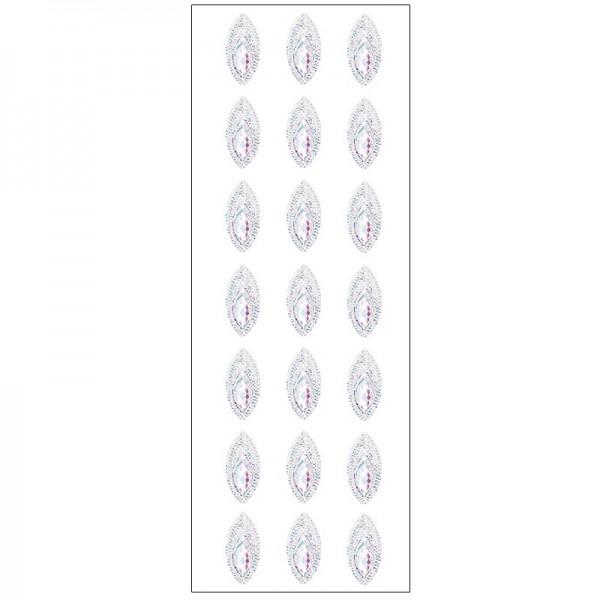 Kristallkunst, Schmuckstein 2, selbstklebend, 10cm x 30cm, klar irisierend