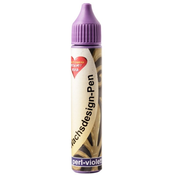 Wachsdesign-Pen, 30 ml, perl-violett