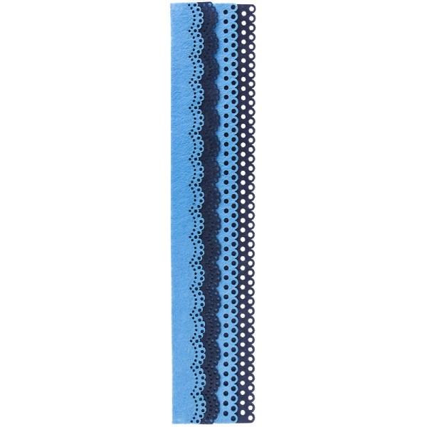 Folia Filzbordüren, blau & dunkelblau, 30cm, 4 Stück