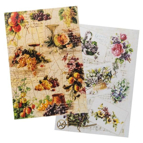 Reispapiere, Nostalgie 12, DIN A4, 2 Designs