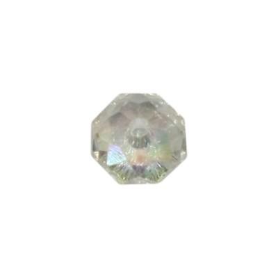 Acryl-Ronden, facettiert, 1 x 1 cm, 50 Stück, kristall