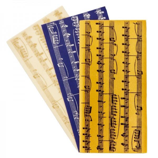 Wachsplatten, bedruckt, Noten, 3er Set