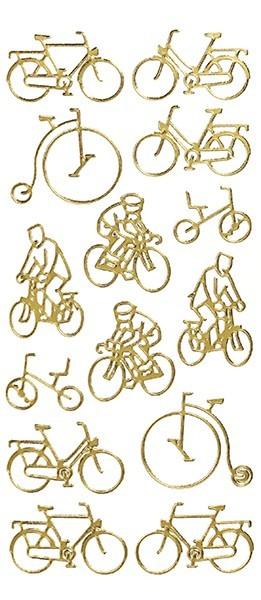 Sticker, Motiv Fahrrad, gold
