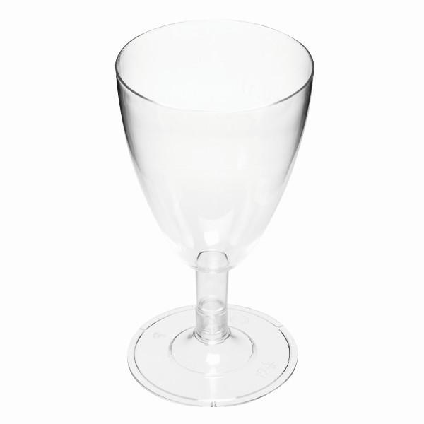 Kunststoff-Weingläser, Ø 6,5cm, 12,5cm hoch, klar, 6 Stück