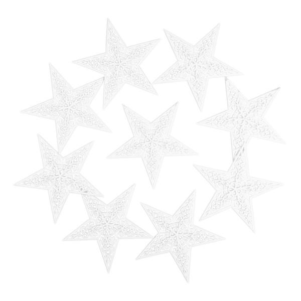 Deko-Sternornamente 2, Rohlinge, 12,5cm x 12cm, 9 Stück