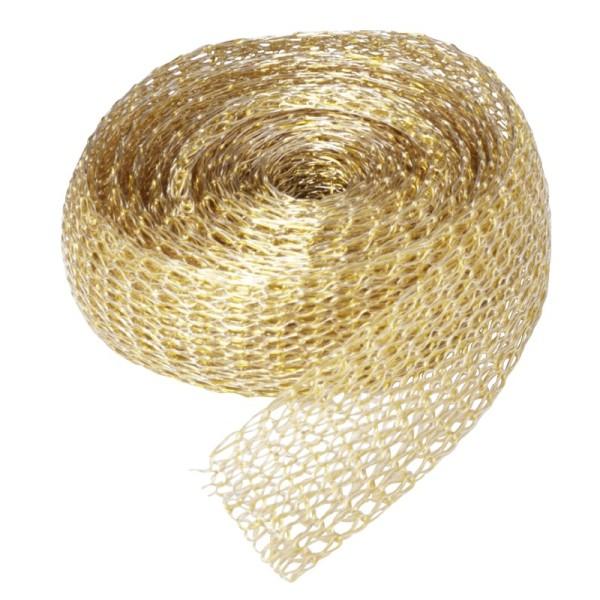 Titan-Mesh Collier-Band, 1 cm x 1 m, gold