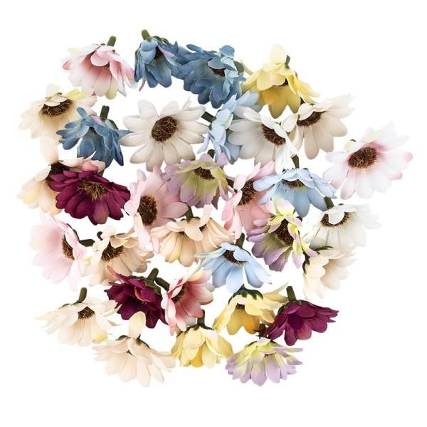 """Deko-Blüten """"Margerite 4"""", Ø 4cm, verschiedene Farben, 30 Stück"""