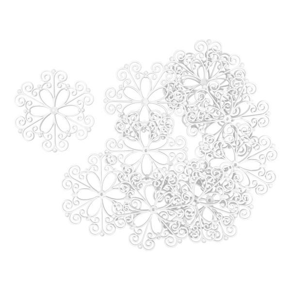 Deko-Ornamente, Rohlinge, 11,5cm x 11,2cm, 11 Stück
