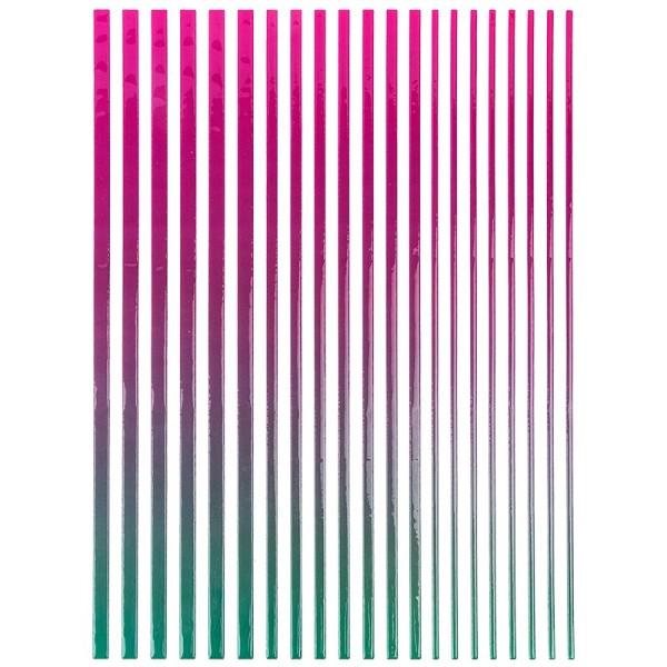 """3-D Sticker-Bordüren """"Farbverlauf"""", 28,5cm, verschiedene Breiten, pink/türkis"""
