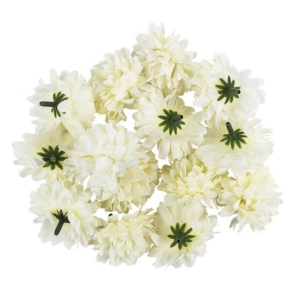 "Deko-Blüten ""Dahlie 3"", Ø 5cm, weiß, 14 Stück"