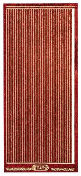 Microglitter-Sticker, Linien, 3,5mm, rot