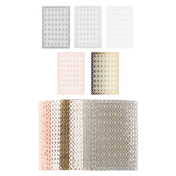 Laser-Kartenaufleger, Hintergrund, Französische Lilie, 14,8cm x 9,6cm, 220 g/m², 5 Farben, 20 Stück