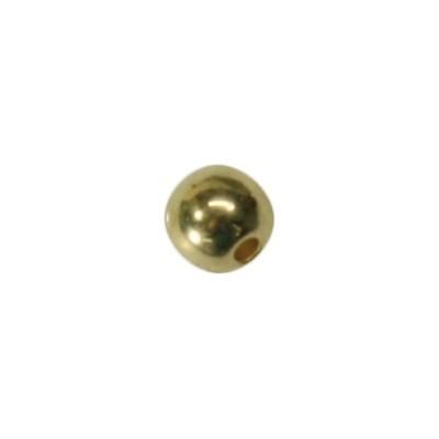 Perle, Ø0,5 cm, goldfarben, 50 Stück