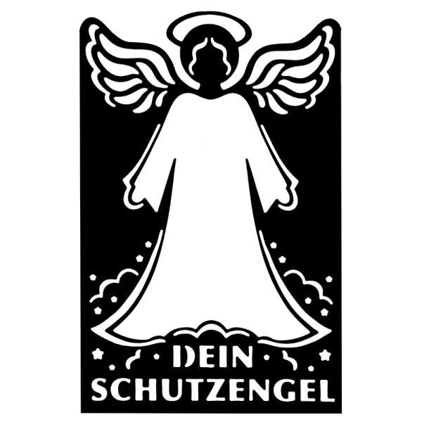 Stanzschablone, Schutzengel, 14,1cm x 9,2cm