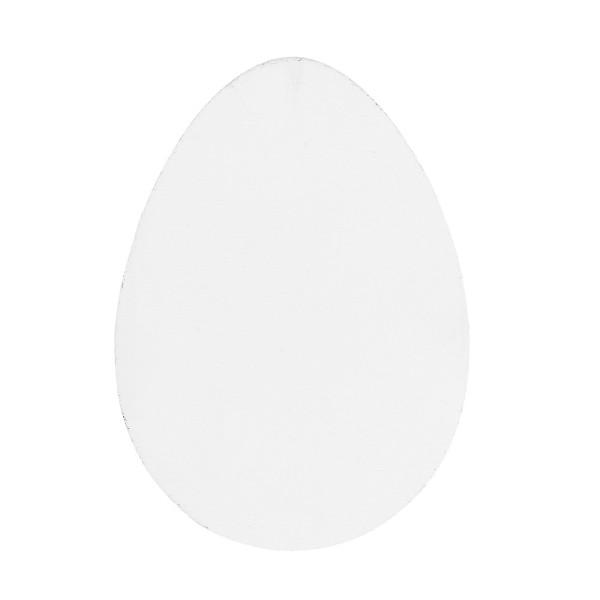 Eier, Holz, 12,5cm x 9cm x 0,5cm, weiß, 15 Stück