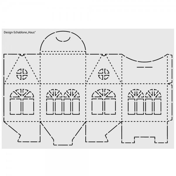 Design-Kunststoff-Schablone, Haus, Box, DIN A3