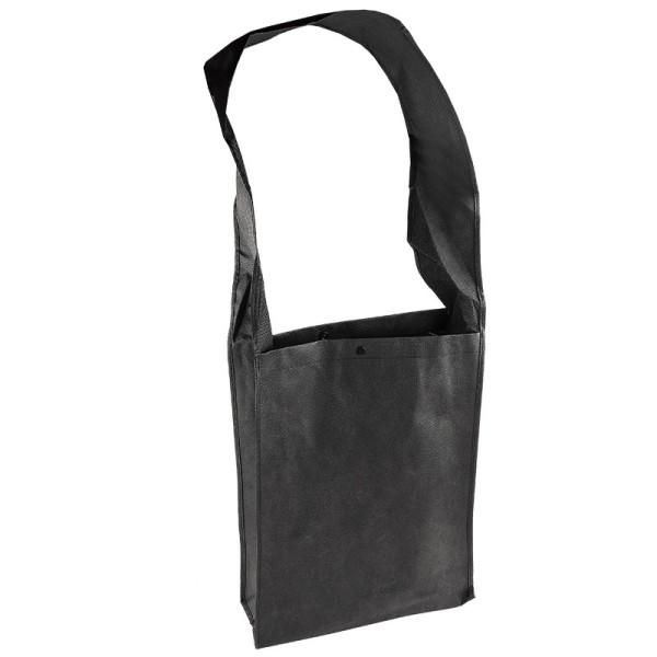 Umhängetasche, 30cm x 40cm x 10cm, schwarz