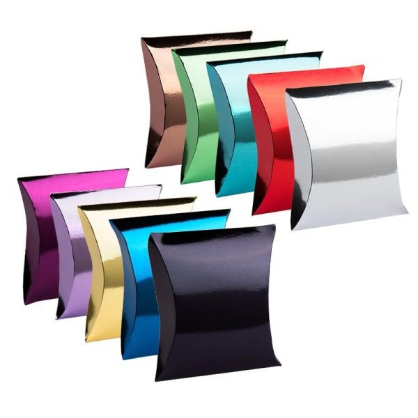 Kissentaschen, 10 cm x 11,4 cm, Spiegelkarton, verschiedene Farben, 10 Stück