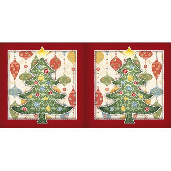 Prickel-Karte, Weihnachtsbaum, 16 x 16 cm