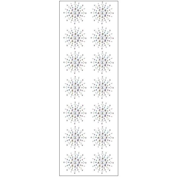 Kristallkunst, Ornament 9, 10cm x 30cm, selbstklebend, klar irisierend