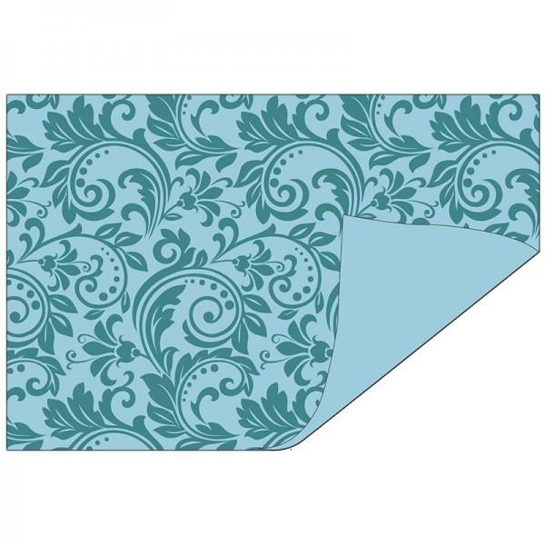 Faltpapiere Duo-Design 30, 10x15 cm, Ornamente/blau, 50 Stück