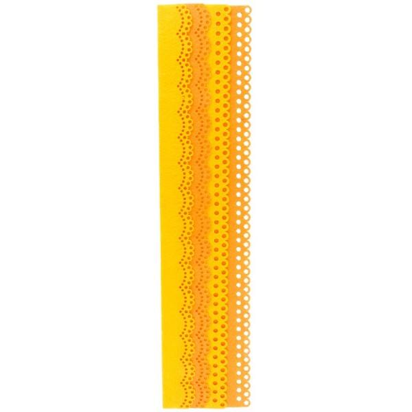 Folia Filzbordüren, gelb & orange, 30cm, 4 Stück