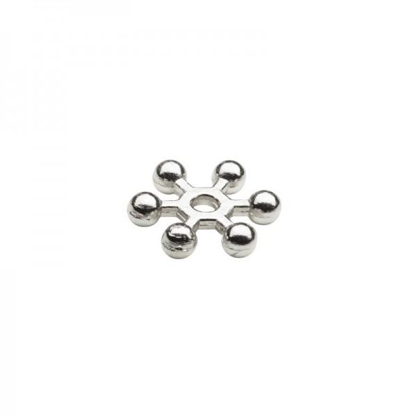 Perlenräder, Ø 1 cm, silberfarben, 150 Stück