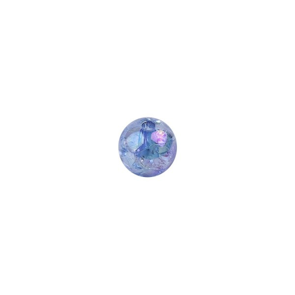 Perlen, transparent, irisierend, Ø8mm, 100 Stück, blau