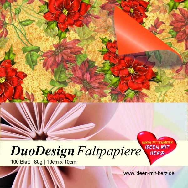 DuoDesign Faltpapier, 10 x 10 cm, 100 Blatt