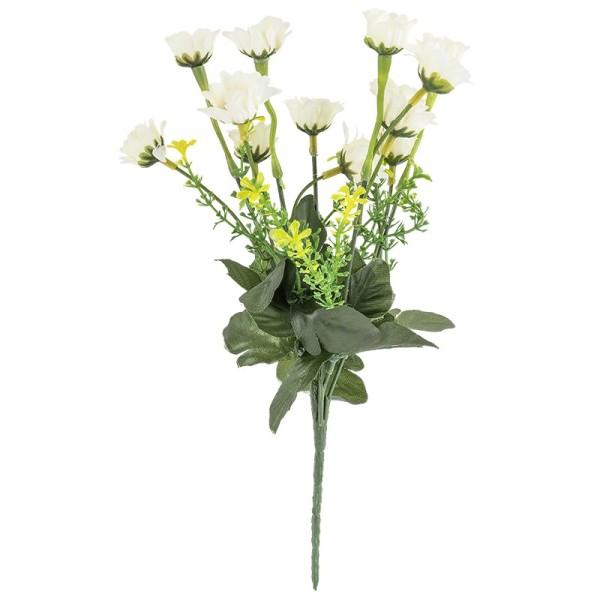 Blütenbusch, Margeriten 2, 30cm hoch, 13 große Blüten, Ø 3cm, weiß