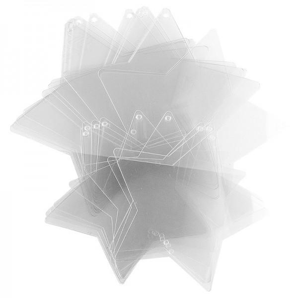 Windradfolien-Scheiben, Stern, 16,8cm x 16cm, 13,6cm x 13 cm, 500µ, 20 Stück
